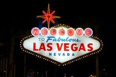 Bienvenue vers Las Vegas Image libre de droits
