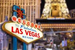 Bienvenue vers Las Vegas Images stock
