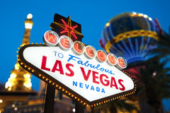 Bienvenue vers Las Vegas Photos stock