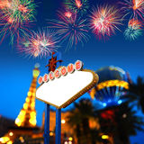Bienvenue vers Las Vegas Photo libre de droits