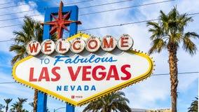 Bienvenue vers Las Vegas fabuleuse photos libres de droits