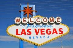 Bienvenue vers Las Vegas fabuleuse Nevada Photographie stock libre de droits