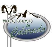 Bienvenue vers le Colorado Photos stock