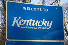 Bienvenue vers le Kentucky Photos libres de droits
