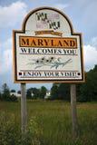 Bienvenue vers le Maryland Photos stock