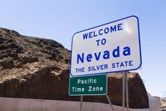 Bienvenue vers le Nevada Photographie stock libre de droits