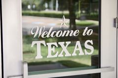 Bienvenue vers le Texas photos libres de droits