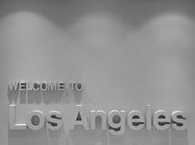 Bienvenue vers Los Angeles Photo stock