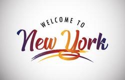 Bienvenue vers New York illustration stock