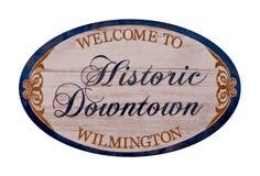 Bienvenue vers Wilmington image libre de droits