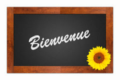 Bienvenue, welcome sign Royalty Free Stock Photo