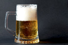 Glas schaumiges Bier Lizenzfreie Stockfotos