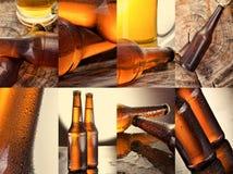 Bier Collage von verschiedenen Bierdetails Lizenzfreies Stockfoto