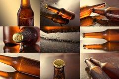 Bier Collage von verschiedenen Bierdetails Stockfoto