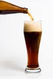 Bier, das in ein Mag gießt Lizenzfreies Stockfoto