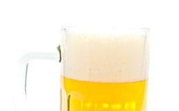 Bier in der Glasnahaufnahme stockbilder