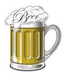 Bier in der Weinlesestichart Stockbilder