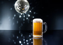 Bier on Disco Bar Royalty Free Stock Images
