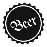 Bier eenvoudig pictogram Stock Foto