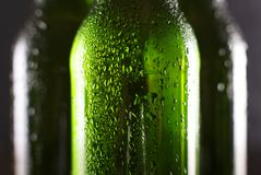 Bier in einer Flasche, Bier, Flasche, Bar, Tropfen, Alkohol, Partei, coold Stockfotografie
