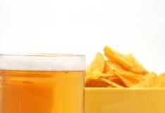 Bier en aardappel Stock Afbeelding