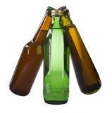 Bier en gebotteld water Royalty-vrije Stock Afbeeldingen
