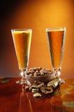 Bier en pinda's Royalty-vrije Stock Afbeelding
