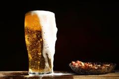 Bier en pinda's Royalty-vrije Stock Fotografie
