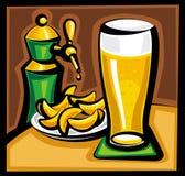Bier en spaanders stock illustratie