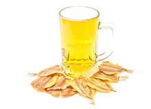 Bier en stokvis Stock Foto