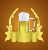 Bier en tarwe. Stock Foto's