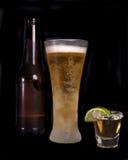 Bier en tequila Stock Foto's