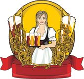 bier etiket, bierfestival Royalty-vrije Stock Afbeeldingen