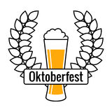 Bier-Festival-Logo, lokalisiertes Vektor-Zeichen Lizenzfreies Stockbild
