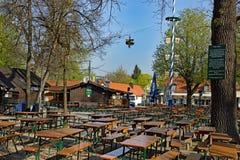 Bier-Garten in München Stockfotos