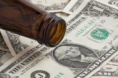 Bier-Geld Lizenzfreies Stockfoto