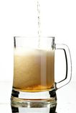 Bier in glas Stock Fotografie