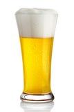 Bier in glas stock foto's