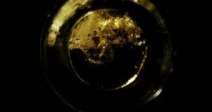 Bier in glas 4k wordt gegoten die stock footage