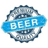 Bier grungy zegel vector illustratie
