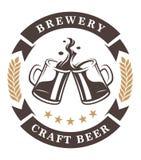 Bier höhlt Emblem vektor abbildung