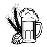Bier, het brouwen vectorpictogram Royalty-vrije Stock Fotografie