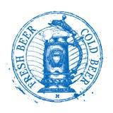 Bier, het ontwerpmalplaatje van het aal vectorembleem sjofel Royalty-vrije Stock Afbeelding