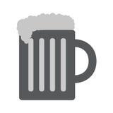 Bier-Ikone in der modischen flachen Art Stockbilder