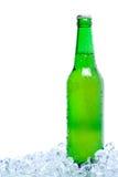Bier im Eis Stockfotografie