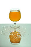 Bier im Glas lizenzfreies stockfoto