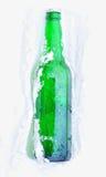 Bier im Schnee Lizenzfreies Stockfoto
