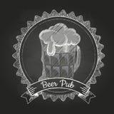 Bier Krijttekening Stock Afbeelding