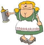 Bier-Maid Stockfotografie