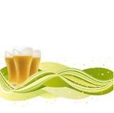 Bier met golf Royalty-vrije Stock Foto's